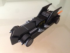 Microscale Batmobile (WhiteBrix) Tags: lego microscale batmobile black pullback