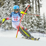 April 16th, 2017 - Yudai Kanazawa of Japan takes third place in the U14 McKenzie Investments Whistler Cup Mens Slalom - Photo By Scott Brammer - coastphoto.com
