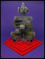 Kris Kringle Towers (Karf Oohlu) Tags: lego moc microscale vignette prison isolation