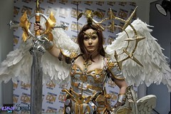 Comicdom Con Athens 2017: 20Tourniquet02 from League of Angels (SpirosK photography) Tags: comicdomcon comicdomcon2017 comicdomconathens2017 athens greece convention spiroskphotography prejudging photobooth cosplay costumeplay leagueofangels 20tourniquet02 angel game videogamecharacter videogame