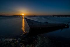 Coucher de soleil à Palavas Les Flots (34) (glassonlaurent) Tags: sun sunset soleil coucher de palavas les flots 34 bateau water mer hérault boat sea