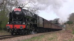 LMS No.46100 'Royal Scot' southbound at Green End [NYMR] on 1st April 2017 (soberhill) Tags: northyorkshiremoorsrailway nymr lms 46100 royalscot grosmont pickering railway steam train locomotive greenend 2017