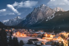 San Vigilio (Davide Arizzi) Tags: 2017 dolomites dolomiti dolomitisuperski europe inverno mountain night sanvigiliodimarebbe snow town trentino trentinoaltoadige winter