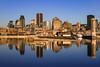 Montreal Reflections (gallant_jonathan) Tags: montreal water pier river saintlaurent saintlawrence quebec canada morning golden blue orange reflection lighting sunlight