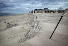 Winter's End (mswan777) Tags: beach sand fence landscape dune michigan bridgman warren dunes scenic texture nikon d5100 sigma 1020mm outdoor nature sky cloud wind shelter weather