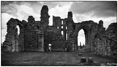 Tynemouth Priory (stewartl2010) Tags: ancient tyneandweir silverefexpro2 nikfilters ruins priory border monochrome monument architecture tynemouth bw history uk imposing england unitedkingdom gb