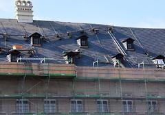 (:Linda:) Tags: germany bavaria franconia town bamberg neueresidenz ladder dormer roof chimney scaffold