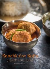 Plantain-kofta-curry (color and spices) Tags: plantain vegan vegetarian bengali recipe kofta curry