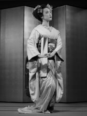 The Maiko Tatsuha-san (Rekishi no Tabi) Tags: maiko apprenticegeiko gion kyoto geisha japan leica monochrome