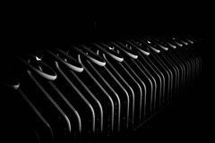Bicycle racks (MortenTellefsen) Tags: bicycle tracks sykkelstativ abstract abstrakt bw blackandwhite blackandwhiteonly artinbw svarthvitt canon 550d
