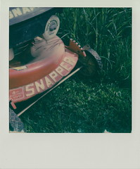 Snapper (DavidVonk) Tags: vintage instant film analog polaroid impossibleproject sx70 sonar lawn mower grass snapper