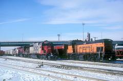 MILW MP15AC 437 (Chuck Zeiler) Tags: milw milwaukee road mp15ac 437 railroad emd locomotive train chuck zeiler chz