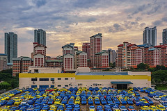 DSC01141-HDR-Edit_LR (teckhengwang) Tags: landscape sunrise sun sky singapore hdb
