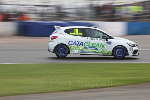 Daniel Rowbottom in Renault Clio Cup Race Three at the British Touring Car Championship 2017 at Donington Park