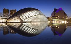 Valencia Blue Hour (Rene Stannarius) Tags: city science arts valencia