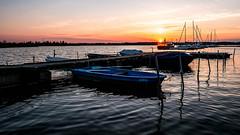 Cospudener See (christopherbischof) Tags: see lake boot segelboot wassaer water leipzig cospuden cospudenersee deutschland germany hafen marina pier1 zöbickerhafen sonnenuntergang sunset