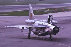 "56 Squadron BAC Lightning F.6 XS929 ""Lima"" ataxies into Luqa, May 1973. (stcaamekid) Tags: firebirds xs929 56squadron lightningf6 lightning bac englishelectric akrotiri luqa 1973 overburgers"