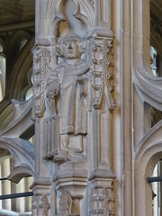 St Lawrence (Aidan McRae Thomson) Tags: worcester cathedral worcestershire medieval sculpture carving statue