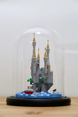 lego mirco castle in a galss dome (ocean the builder) Tags: lego micro moc