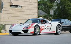 Porsche 918 Spyder (SPV Automotive) Tags: porsche 918 spyder hybrid convertible exotic sports car supercar hypercar white weissach