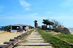 TA (jsebassp) Tags: her landscape train tracks traintracks hat sea sky rocks