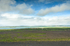 View from Hverfjall (webeagle12) Tags: iceland nikon d7200 europe mountains landscape vegetation nature mountain earth planet reykjahlíð north geothermal myvatn lake hverfjall volcano krafla region