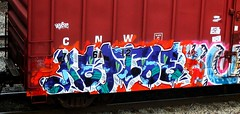(timetomakethepasta) Tags: keptoe freight train graffiti cnw boxcar sts vrs sufer