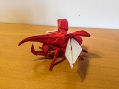Hercules beetle (lorenzogiorgio1) Tags: animal herculesbeetle beetle art paper insect origami