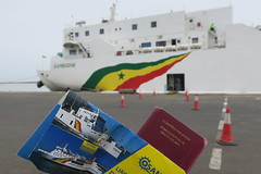 """Welcome to Senegal   About to take the boat from the Ziguinchor port to Dakar.  April 2017 #itravelanddance • <a style=""""font-size:0.8em;"""" href=""""http://www.flickr.com/photos/147943715@N05/34198730222/"""" target=""""_blank"""">View on Flickr</a>"""