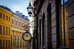 Stockholm (Calinore) Tags: suede sweden stockholm architecture city ville street rue clock time tempsfacade building