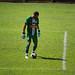 Thyago Costa, goleiro da Portuguesa Santista, em lance da partida em que a Briosa foi derrotada pelo Olímpia, no estádio Tereza Breda, pelo placar de 3 a 1, e ficou fora das semifinais do Paulistão A3