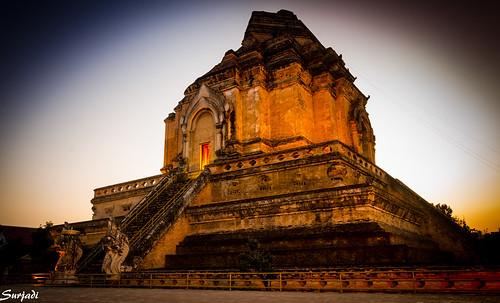 Sunset, Wat Chedi Luang, Chiang Mai, Thailand