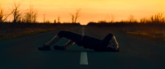 Stop the voices (Mark Turtoo |) Tags: clutching dark gloom insane moody pain road suffer sunset voices selfportrait