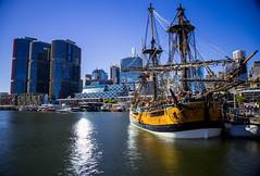 Sydney, Australia - April 7, 2017: Historic boat in Darling harbour (AlfonsoFD) Tags: bluesky historicboat 2017 darlingharbour barangaroo bay canon sydney nsw australia sea newsouthwales au