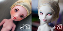 WIP Monster High (***Andreja***) Tags: monster high ooak custom mh repaint catrine draculaura