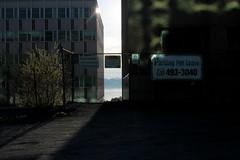 Halifax, NS (Avard Woolaver) Tags: light shadow signs canada colour architecture sunrise buildings morninglight photo spring parkinglot novascotia explore halifax canondslr halifaxharbour hrm sociallandscape tumblr topf25faves canonrebelt3 may182013 parkingforlease