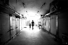 United Souls (Praveen_Guna) Tags: blackandwhite subway mood artistic father feel dream surreal son relationship soul chennai overexpose praveeng praveenguna