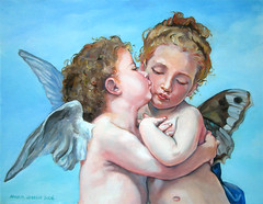 eros and psyche children (copy of w. a. bouguereau) (anna lobello) Tags: children eros copia psyche firstkiss erosandpsyche wabouguereau masterscopy