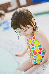 Ana and the Pool (Mara T Pons) Tags: summer water girl toddler bathingsuit swimmimngpool