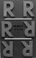 MLN077 (Chocolate Concepts) Tags: chocolate letters number numbers r letter mold