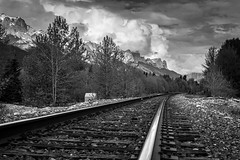 Down the road (Glyn8) Tags: canada track rail alberta banff canmore