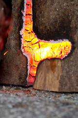 log torch - Baumstammfackel (Singflow) Tags: wood fire log torch singflow