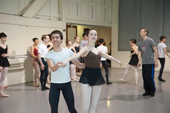 Ballet Practice 2 (Jared_for_the_Win) Tags: boy ballet ballerina legs tights practice