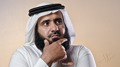 Bader Al-Atawi (MajedHD) Tags: portrait man model think thinking bader