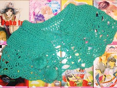 crochet_shawl_with_pom_poms_by_jamoomers-d1ywac3 (JamieAstari) Tags: original ties pin handmade buttons oneofakind ooak sewing crochet tie tshirt skirt pins purse recycle reuse pinned revamp