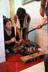 Making rice noodles (Ray Cunningham) Tags: de kim north korea communism rpublique socialism core populaire dprk coreadelnorte ilsung demokratische  jongil   dmocratique jongun  rpdc volksrepublik   northkoreanphotography raycunninghamnorthkoreanphotography