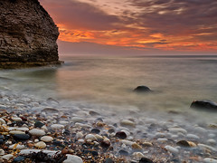 Flamborough Head Sunrise (mark_mullen) Tags: uk seascape beach sunrise landscape dawn rocks colours earlymorning coastal northsea bridlington eastcoast subtle eastyorkshire flamboroughhead leafaptus22 bridlingtonbay mamiyaafdii mediumformatdigitalback markmullenphotography