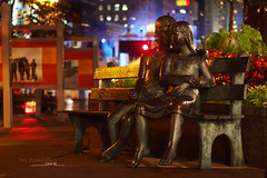 the romantics (picturoma) Tags: color statue night montreal romantic f18 zuiko ep3 45mmzuiko