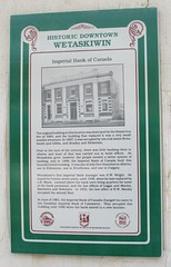 Old Imperial Bank of Canada Marker (Wetaskiwin, Alberta) (courthouselover) Tags: canada ab alberta banks wetaskiwin prairieprovinces wetaskiwincounty