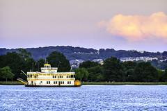 Potomac Riverboat (Joe Rebello) Tags: cruise sunset alexandria clouds dc washington cloudy dusk va transportation potomacriver potomacriverboatcherryblossom